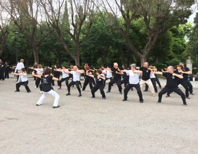 Tai Chi presentation at park Chrysostomou Smyrnis
