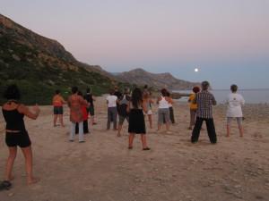 Εξάσκηση με την πανσέληνο στο καλοκαιρινό σεμινάριο 2015 στον Αζωγυρέ